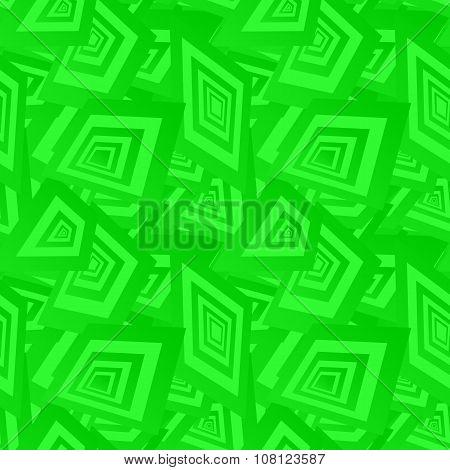 Green seamless rectangle pattern background