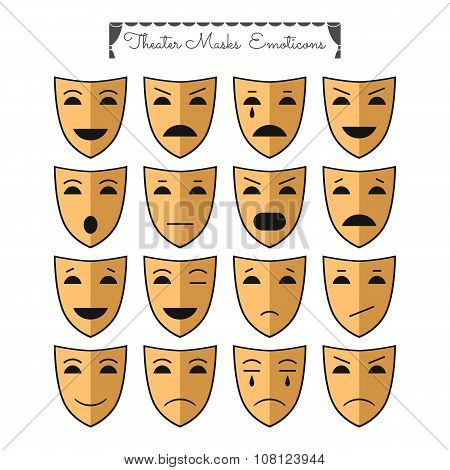 Theatrical Masks, Emoticons