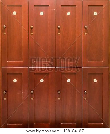 Numbered Wooden Lockers