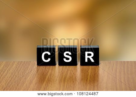 Csr Or Corporate Social Responsibility On Black Block