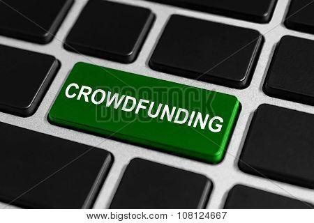 Crowdfunding Button On Keyboard