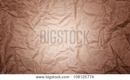 image of vintage crumpled paper background