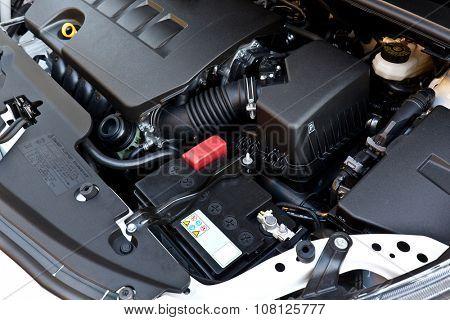background of modern gasoline car engine