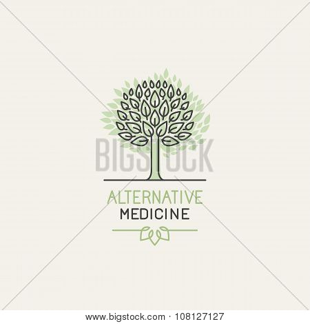 Vector Herbal And Alternative Medicine Logo Design