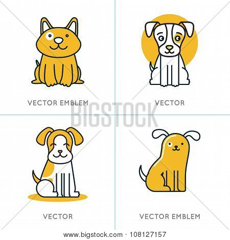 Vector Set Of Icons And Signs In Trendy Linear Style