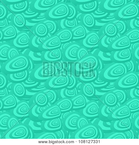 Turquoise seamless oval shape pattern background