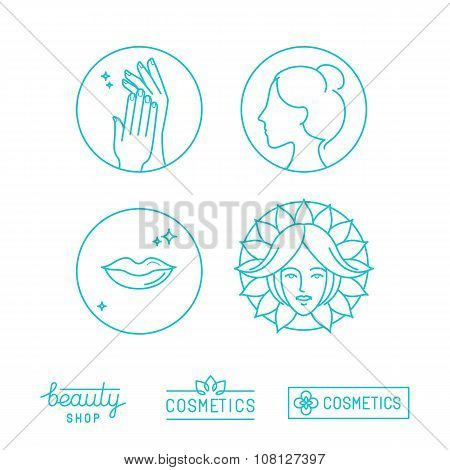 Vector Set Of Linear Logo Design Templates And Icons