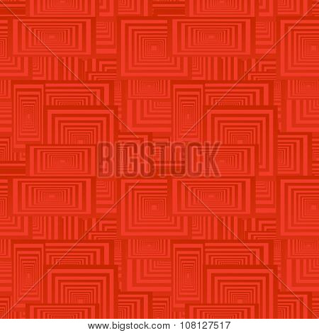 Red seamless rectangle pattern background