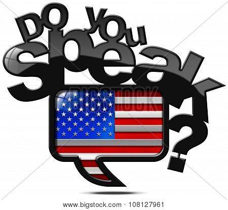 Do You Speak American - Speech Bubble