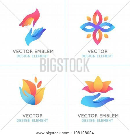 Vector Set Of Gradient Logo Design Elements