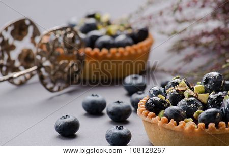 Two Cakes With The Berries Of Bow Whortleberry