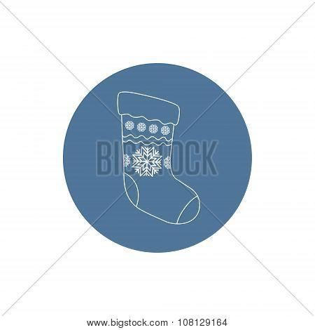 Linear  Icon  Christmas Sock
