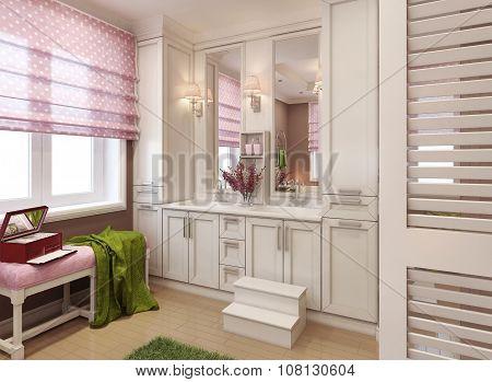 Classic Bathroom For Girls