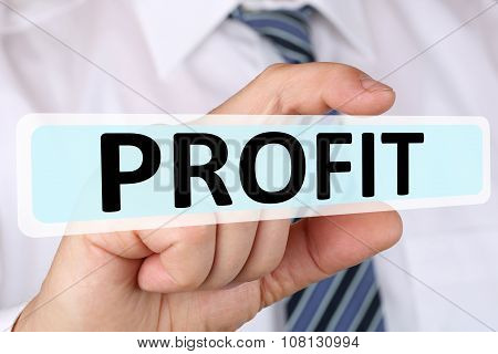 Businessman Business Concept With Profit Leadership Financial Success