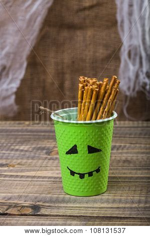 One Disposable Halloween Cup