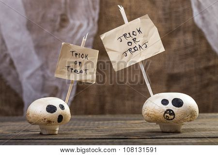 Treat Or Trick Ghost Champignons