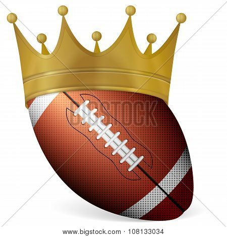 Football Ball With Crown