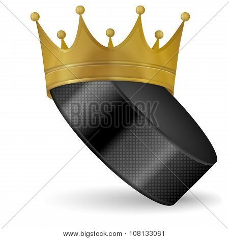 Hockey Puck With Crown
