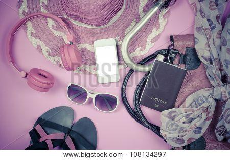 Travel accessories, bags, scarves, umbrellas, wallets headphones. Vodafone Passport smart shoes read