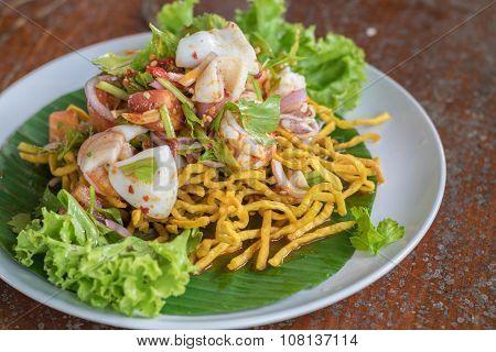 Seafood Thai Spicy Mixed Salad