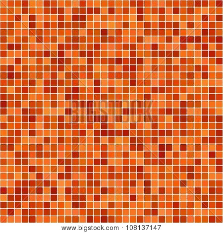 Orange pixel design background