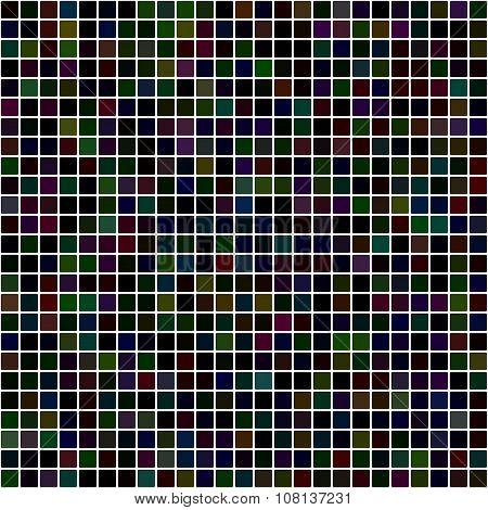 Dark pixel mosaic background