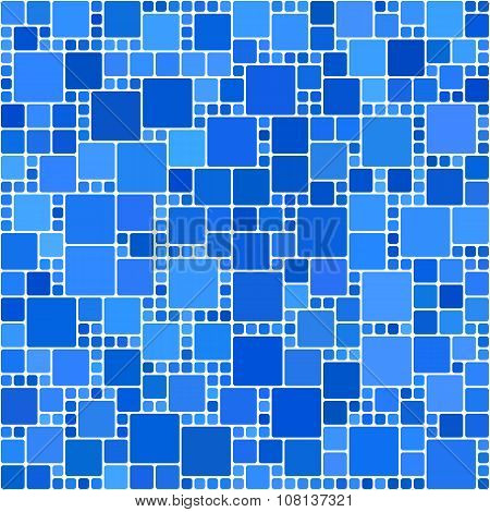 Blue square mosaic background