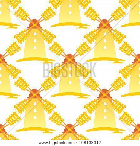 windmills seamless pattern