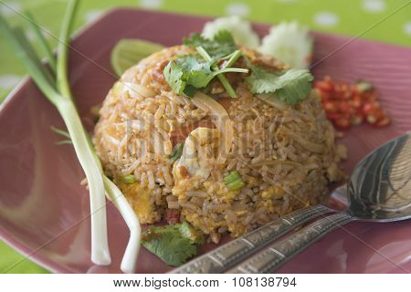 Fried rice with shrimp at restaurants Thai food