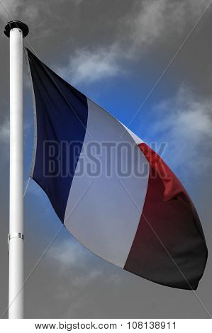 National Flag of France - Europe - grieve