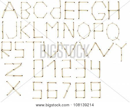 Full English Alphabet And Numbers Of  Safety Match