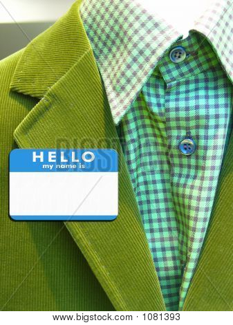 Suit With Name Badge