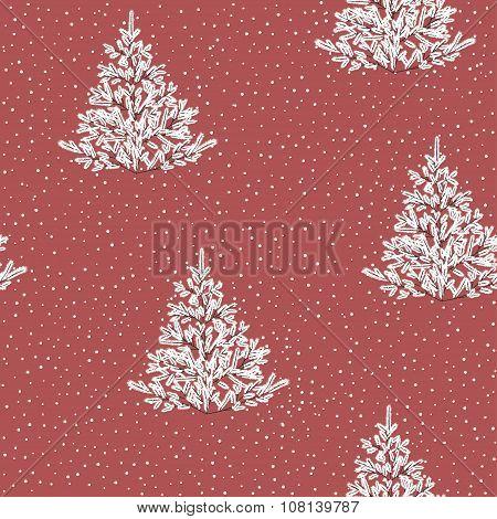 Winter forest pattern
