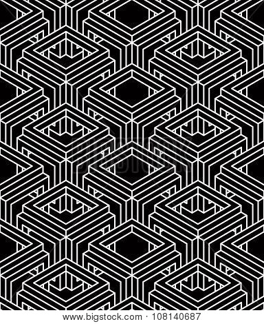 Contemporary Abstract Vector Endless Background, Three-dimensional Repeated Pattern. Decorative