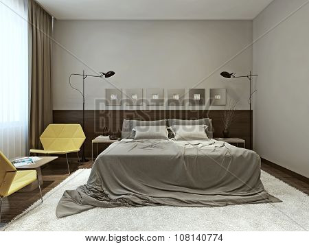 Bedroom Interior Techno Style