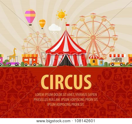 funfair. circus performance