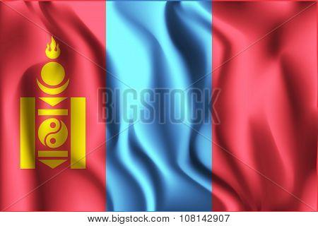 Flag Of Mongolia. Rectangular Shape Icon