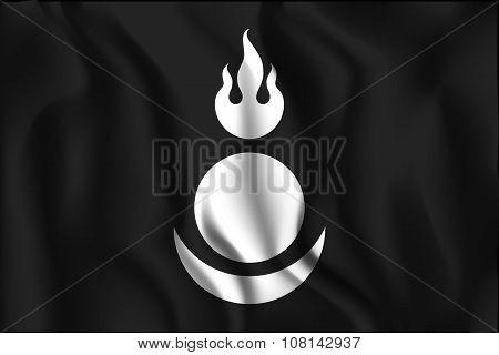 Mongolia Variant Flag. Rectangular Shape Icon