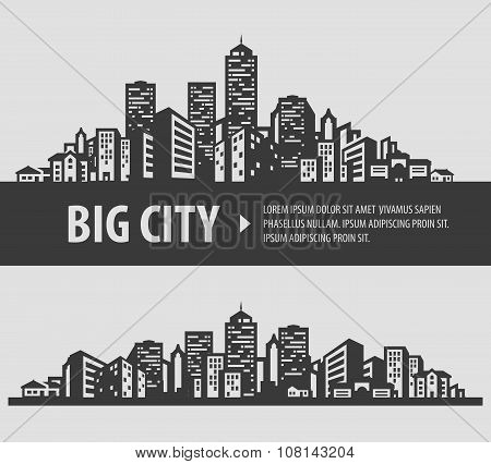 city and town vector logo design template. construction or building icons