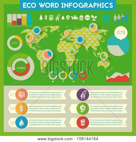 Utility infographics with world map