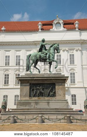 Statue Of Emperor Joseph Ii In Hofburg Palace -vienna
