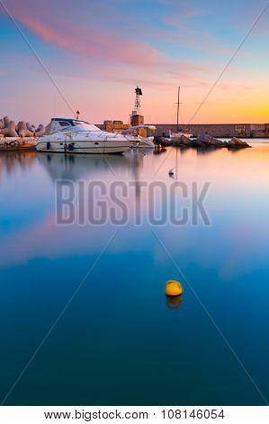Pier in Mikrolimano marina.