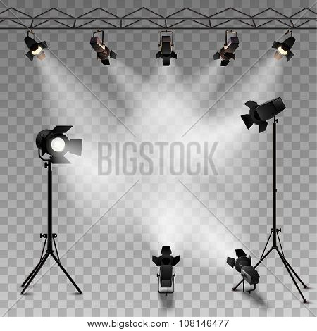 Spotlights Transparent Background
