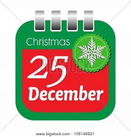 Christmas calendar sheet