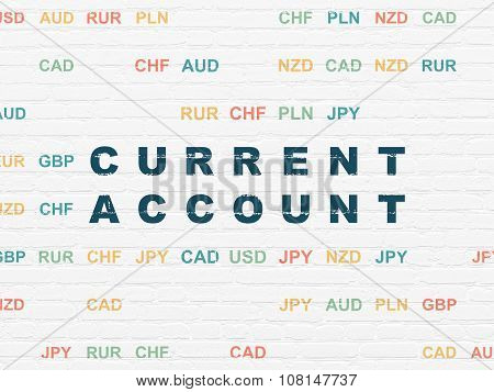 Currency concept: Current Account on wall background