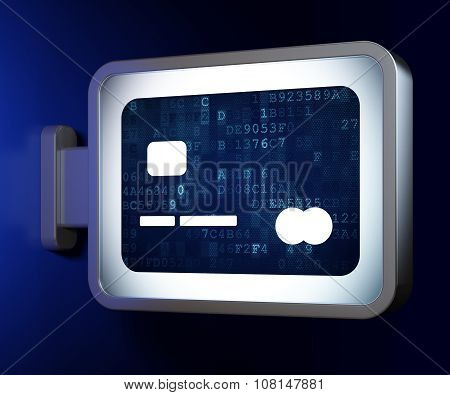 Banking concept: Credit Card on billboard background