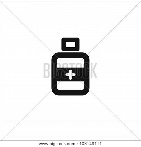 Black Bottle Medical Vector Line Icon
