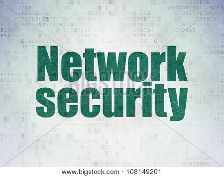 Safety concept: Network Security on Digital Paper background