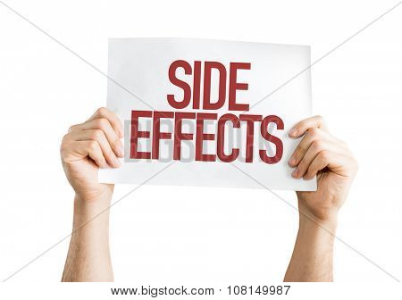 Side Effects placard isolated on white