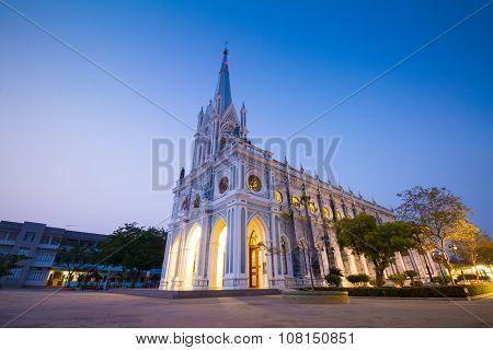 Gothic Church In Twilight Time, Thailand